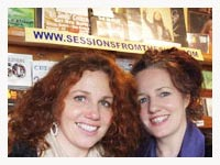 Michelle and Irene Flannery at Dingle Record Shop